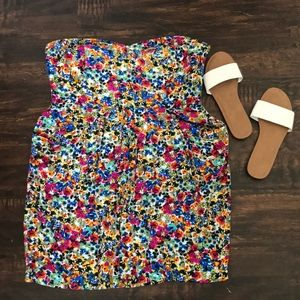 I'm style French connection strapless floral dress